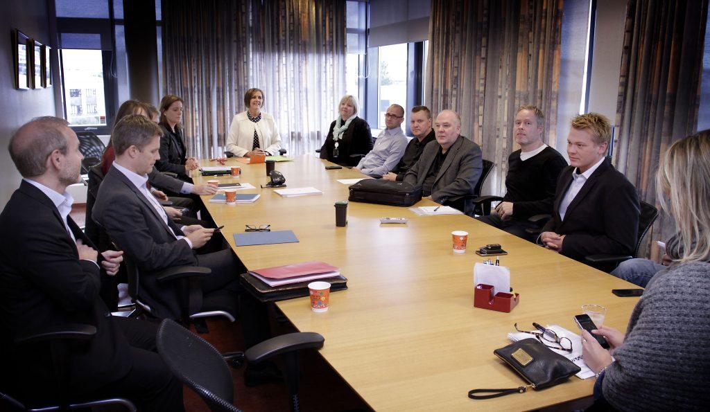Viðræðunefnd SSF á fundi Ríkissáttasemjara.