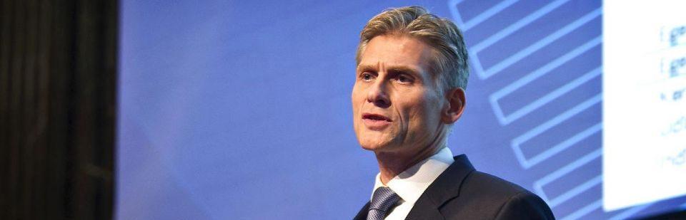 Thomas Borgen, aðalbankastjóri Danske Bank, býður 8.000 starfsmönnum sínum starfslokasamninga. Mynd: Nils Meilvang
